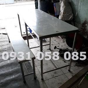 Bàn ăn inox công nghiệp BCN 008